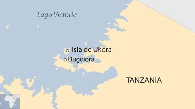 Mapa del Lago Victoria, Tanzania