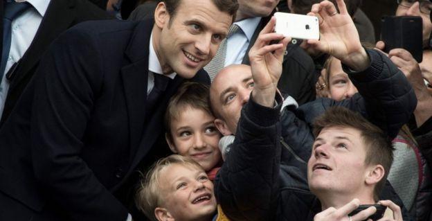 Emmanuel Macron em Le Touquet