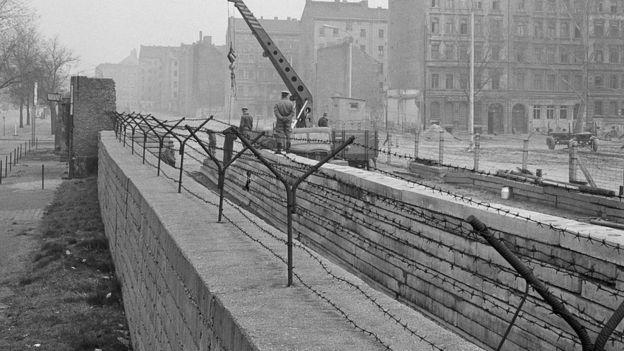 Muro de Berlín en 1967.