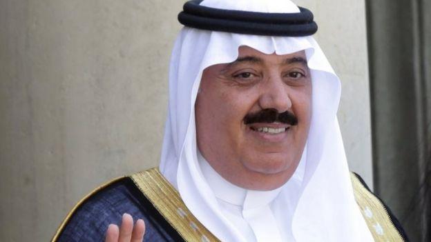 El príncipe Miteb bin Abdullah.