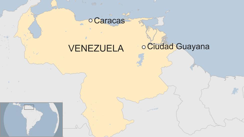 Mapa Ciudad Guayana.