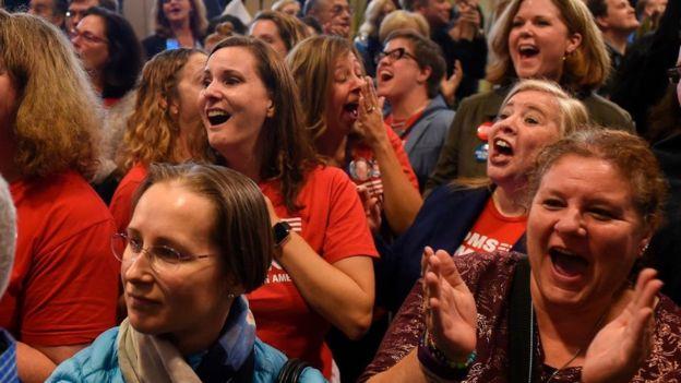 Mujeres votantes en Virginia