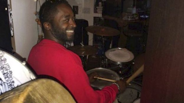Corey Jones, 31, a professional drummer, is shown in this photo released by Florida State University National Black Alumni, Inc on 20 October 2015