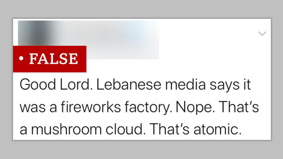 """Публикация в """"Твиттере"""" ошибочно назвала взрыв атомным"""