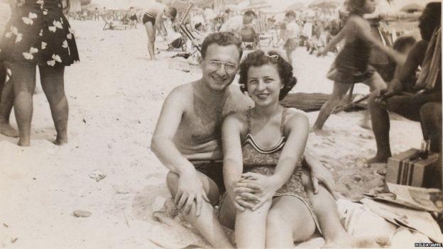 Hilda Jaffe junto a su esposo (Foto cortesía: Hilda Jaffe)
