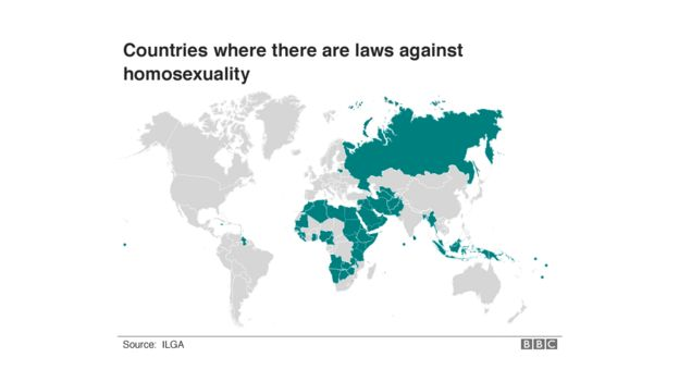 Nations where homosexuality is punishable by death