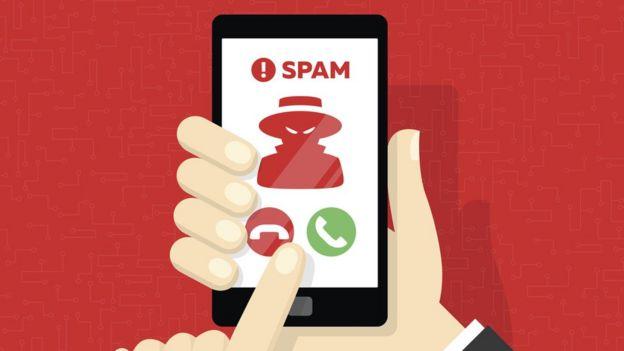 llamada spam