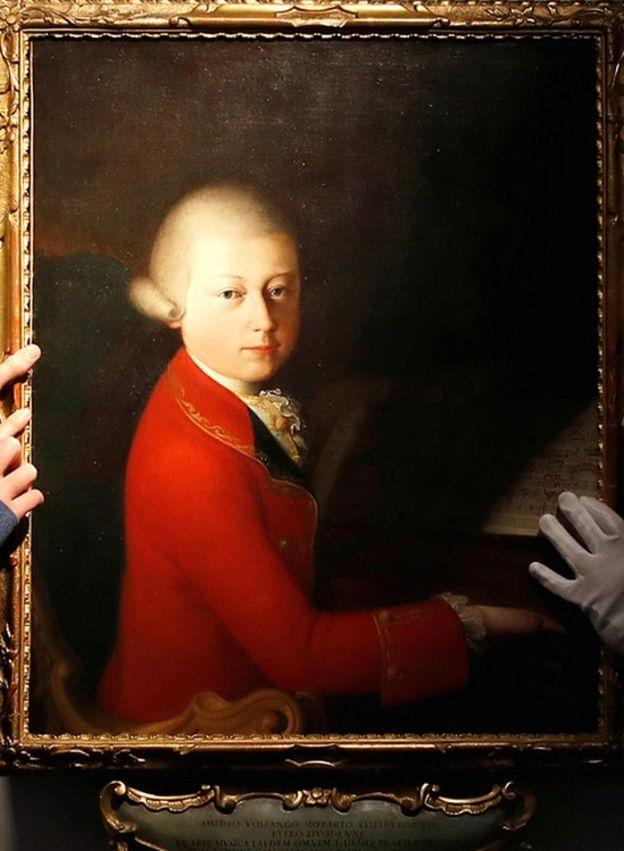 Mozart portrait in auction, 12 Nov 19