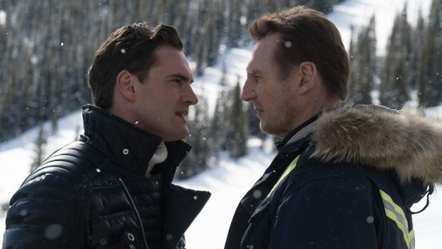 Liam Neeson and Tom Bateman