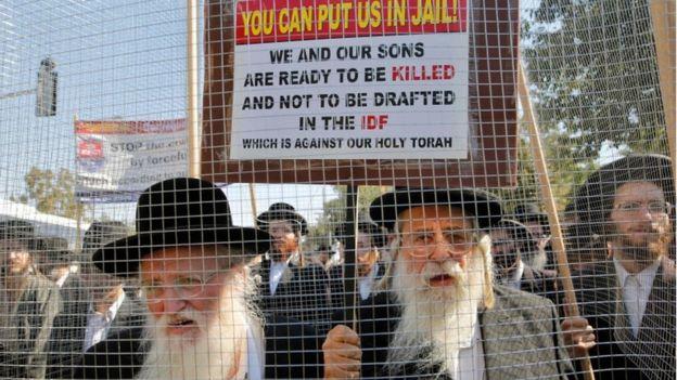 Протесты ортодоксов в Израиле