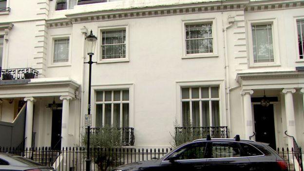 خانه این زوج در غرب لندن که فاصله بسیار کمی با هرودز دارد