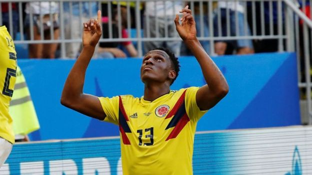 Colombia's Yerry Mina