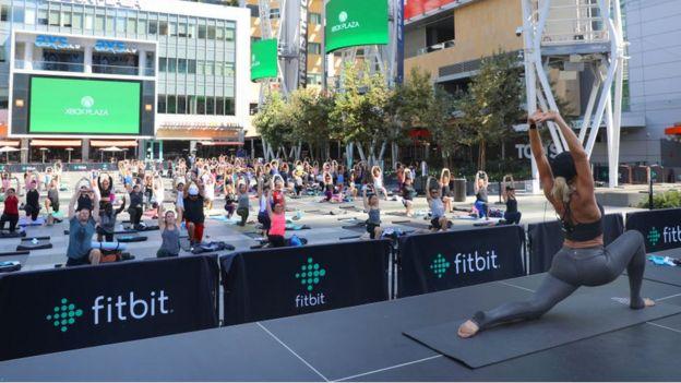 Un evento de entrenamiento de Fitbit