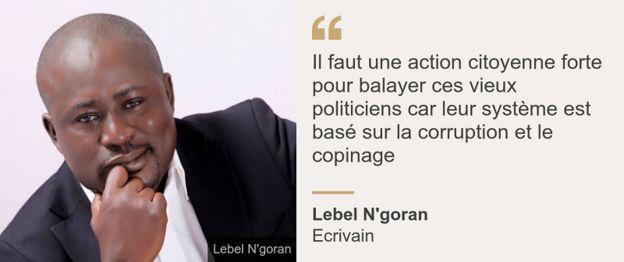 Lebel N'goran citation