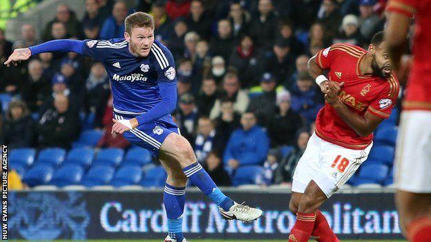 Aron Gunnarsson scores Cardiff' equaliser