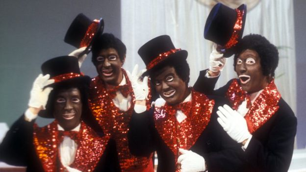 Os atores do The Black and White Minstrel Show