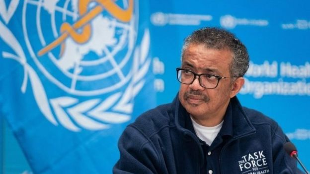 WHO director-general Tedros Adhanom Ghebreyesus