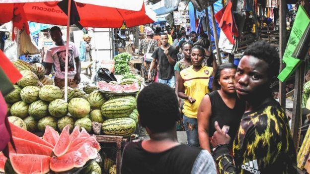 A market in Dar es Salaam, Tanzania - 15 April 2020