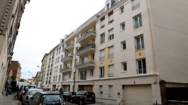 Apartment building in Asnières-sur-Seine where Félicien Kabuga was arrested by French gendarmes (16 May 2020)