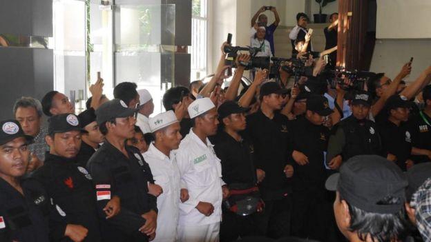 Penjagaan di Ijtima 3 pada saat Prabowo Subianto hadir.