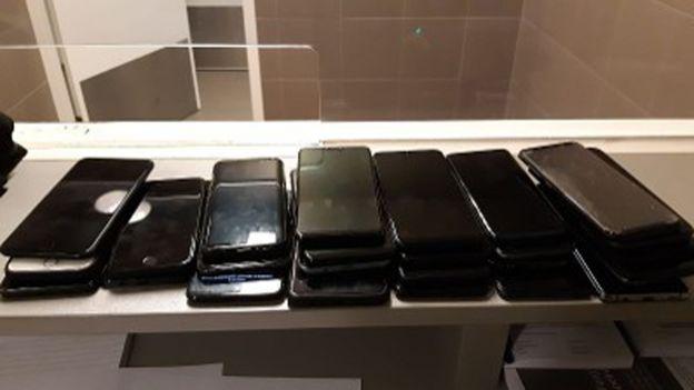 Stolen phones