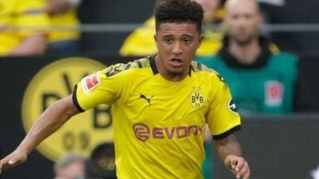Kiungo wa klabu ya Borussia Dortmund ya Ujerumani Jadon Sancho