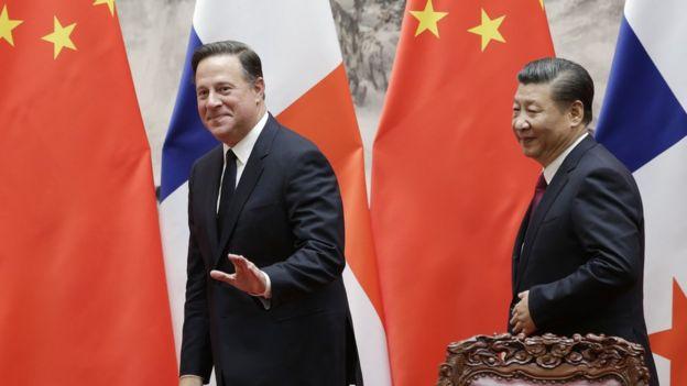 Juan Carlos Varela y Xi Jinping