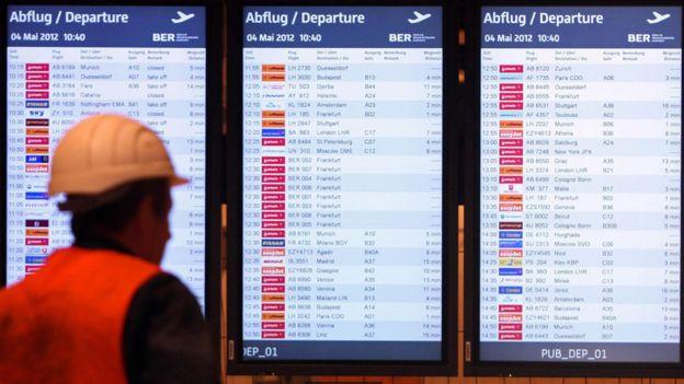 Monitores en aeropuerto BER