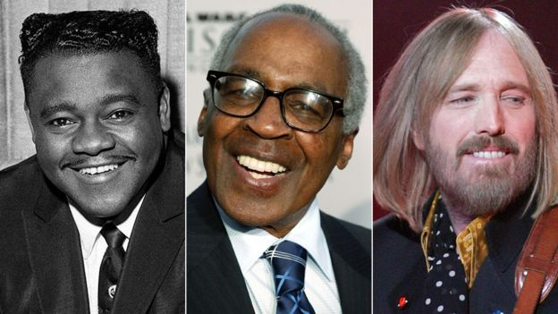 Fats Domino, Robert Guillaume and Tom Petty