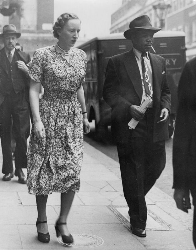 Ruth Williams y Seretse Khama