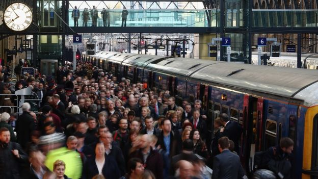 Rush hour at Kings Cross station