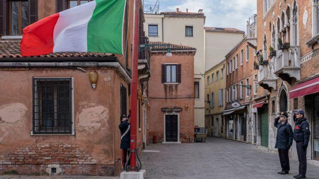 Италия, минута молчания