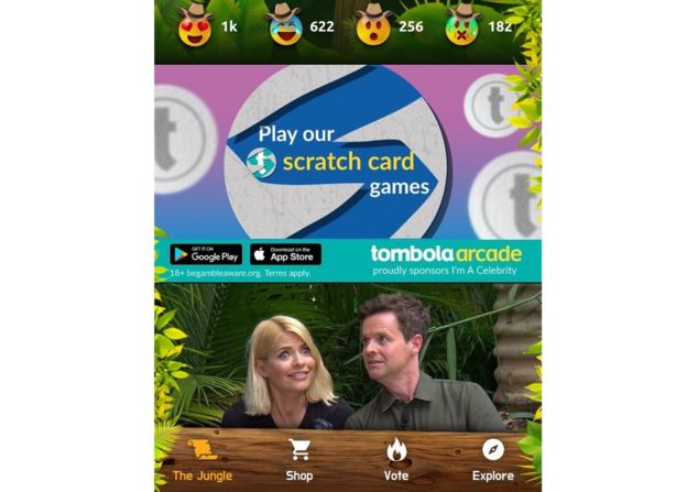 I'm A Celebrity app's gambling ads criticised - BBC News
