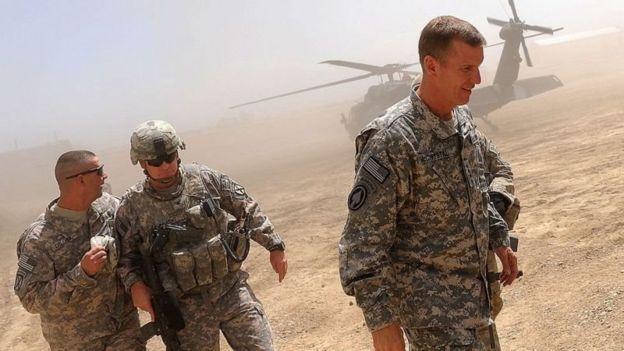 استنلی مککریستال، ژنرال آمریکایی که مسئول جنگ افغانستان بود