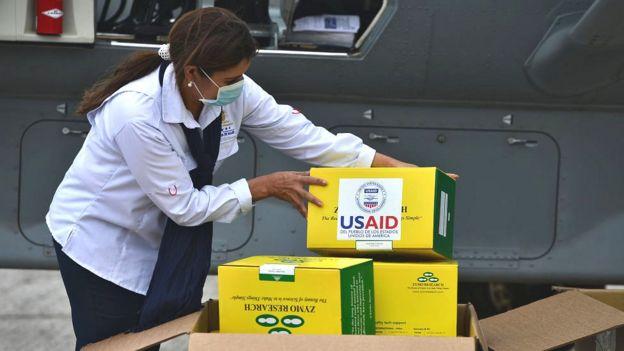 Ayuda de USAID enviada a Honduras.