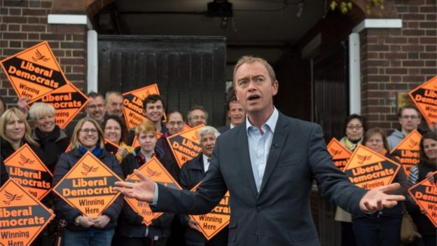 Tim Farron during the election
