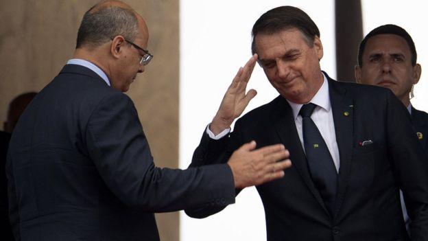 Willson Witwel con Bolsonaro.