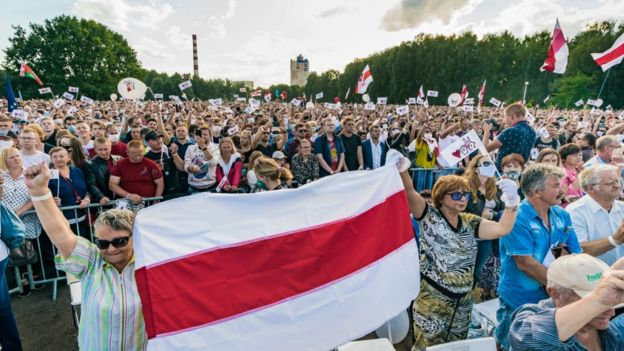 Митинг альтернативного кандидата Светланы Тихановской