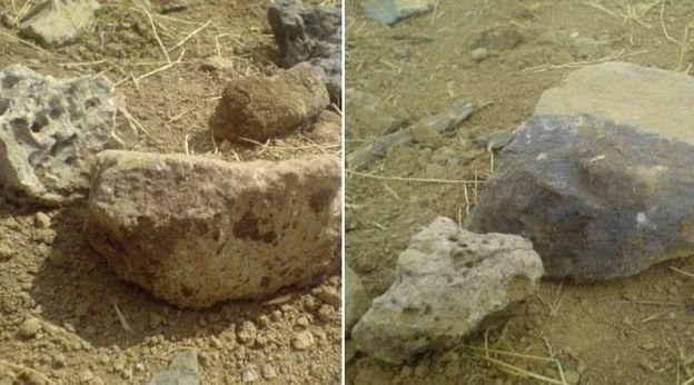 سنگهایی که گفته میشود با آنها جعفر کیانی سنگسار شده است