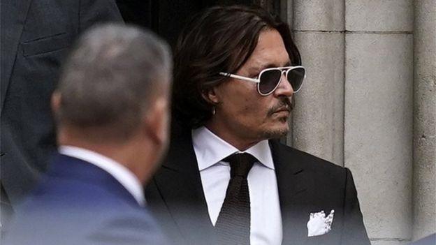 Depp en el tribunal de Londres