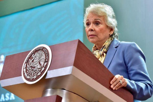 La secretaria Sánchez Cordero