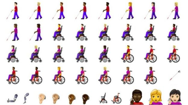 Disability-themed emojis approved for use - BBC News