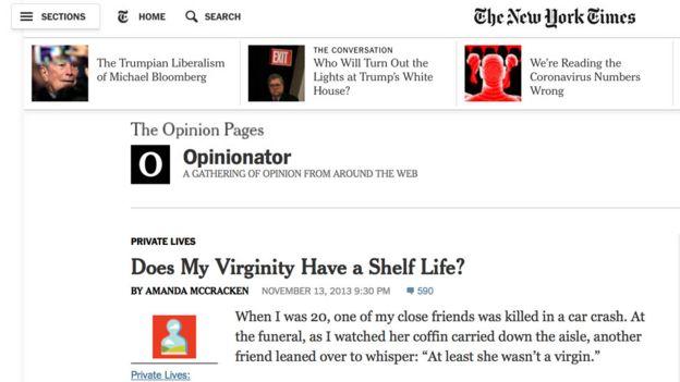 Artigo de opinião de McCracken no jornal New York Times