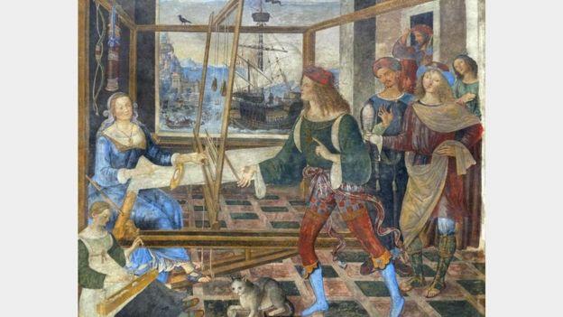 كانت بينيلوبي زوج أوليس تراوغ الخُطّاب وتصدهم على أمل أن يعود زوجها الغائب