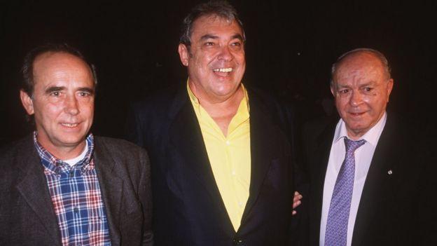 Joan Mauel Serrat, Alberto Cortez y Alfredo Diestefano