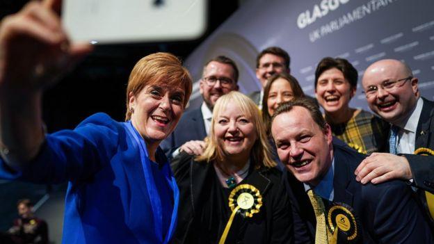 SNP victory selfie
