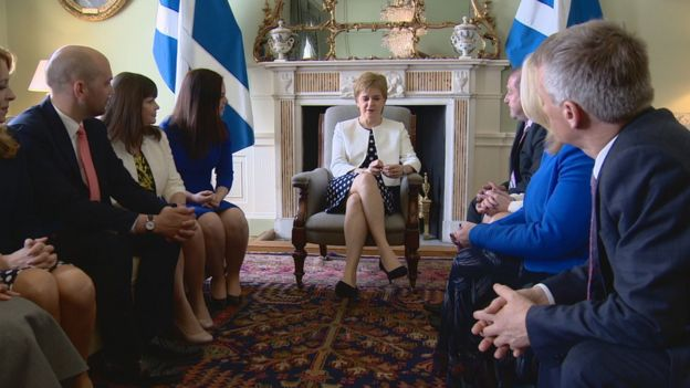 Sturgeon and new ministers