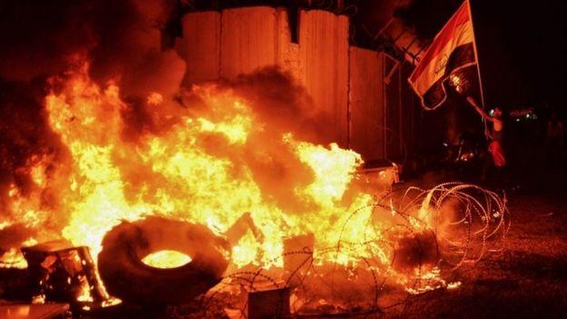 Iranian consulate burns in Najaf, 27 Nov