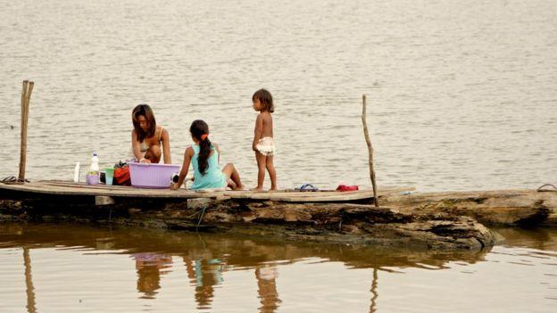 Moradores das comunidades ribeirinhas do região do Médio Solimões, na Amazônia Central, onde atua o Instituto Mamirauá