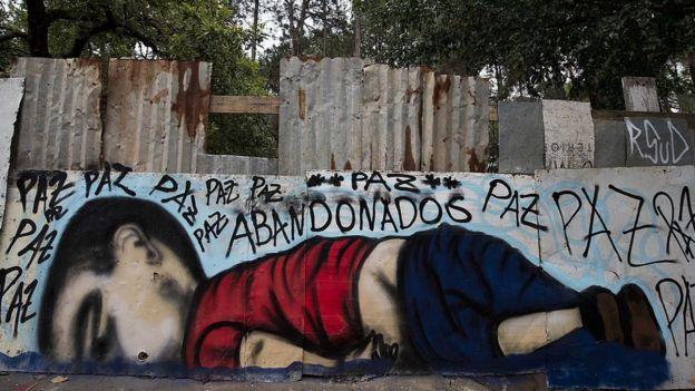 Grafiti de Aylan en una pared.